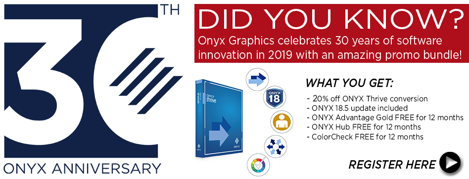 ONYX 18.5 2019 30th anniversary promo conversion bundle
